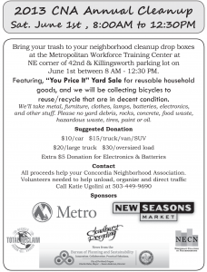 Cleanup happening Saturday June 1st,  from 8:00 AM to 12:30 PM on NE 42nd and Killingsworth!!