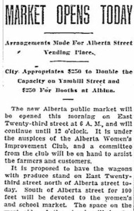 Alberta Market Opens From the Oregonian, June 26, 1914