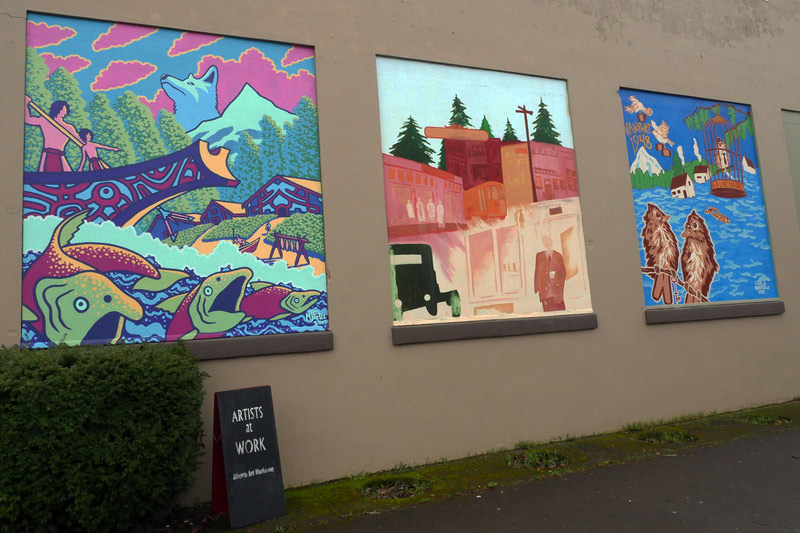 Murals of the Black United Fund, Alberta Street, Portland, Oregon