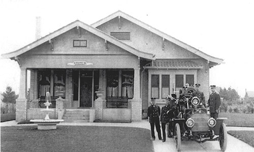 The Oregon Stamp Society building at 33rd Avenue and Alberta Court may not look like a fire station now. But it did in the early 20th century.