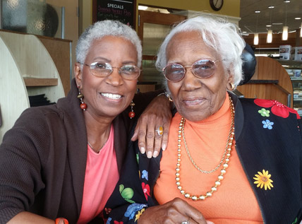 Donna Maxey and Mrs. Johnnie Maxey