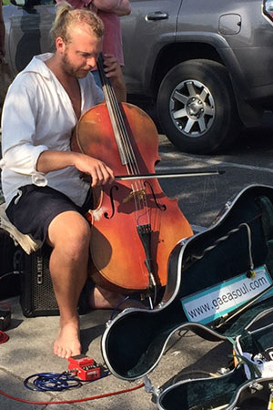Cellist Martin Watkinson