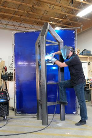 Five informative public art structures are in the works at a Portland fabricator